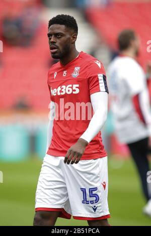 Stoke On Trent, UK. 07th Mar, 2020. Stoke City defender Bruno Martins Indi (15) warming up during the EFL Sky Bet Championship match between Stoke City and Hull City at the bet365 Stadium, Stoke-on-Trent, England on 7 March 2020. Photo by Jurek Biegus. Editorial use only, license required for commercial use. No use in betting, games or a single club/league/player publications. Credit: UK Sports Pics Ltd/Alamy Live News