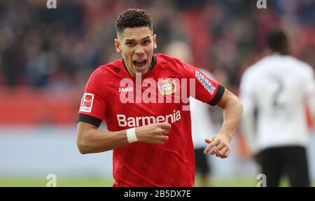 firo: 07.03.2020, Fuvuball, 2019/2020, 1.Bundesliga: Bayer Leverkusen - Eintracht Frankfurt 4: 0 jubilation, Paulinho | usage worldwide - Stock Photo