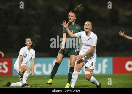 Parchal, Portugal. 08th Mar, 2020. LAGOS, PORTUGAL: MAR 7TH Italian forward Barbara Bonansea (11) pictured celebrating her goal and the 0-2 lead for Italy during the female football game between the national teams of New Zealand called the Football Ferns and Italy, called the Azzurre on the second matchday of the Algarve Cup 2020, a prestigious friendly womensoccer tournament in Portugal David Catry/SPP-Sportpix Credit: SPP Sport Press Photo. /Alamy Live News - Stock Photo