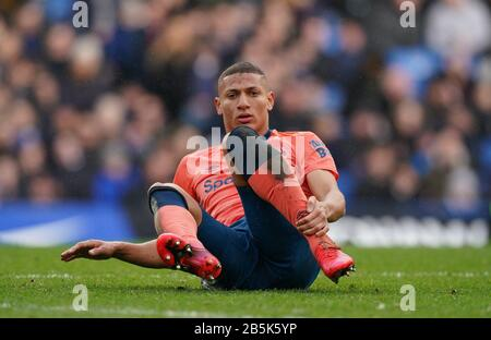 London, UK. 08th Mar, 2020. Richarlison of Everton during the Premier League match between Chelsea and Everton at Stamford Bridge, London, England on 8 March 2020. Photo by Andy Rowland. Credit: PRiME Media Images/Alamy Live News
