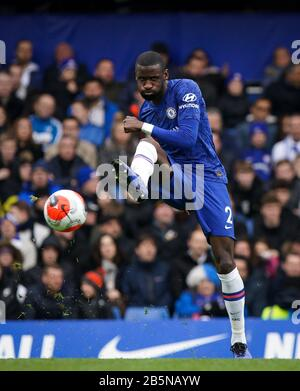 London, UK. 08th Mar, 2020. Antonio Rudiger of Chelsea during the Premier League match between Chelsea and Everton at Stamford Bridge, London, England on 8 March 2020. Photo by Andy Rowland. Credit: PRiME Media Images/Alamy Live News