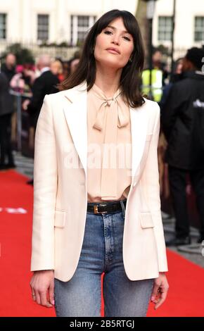 London, UK. 08th Mar, 2020. Gemma Arterton attends the Premiere of Radioactive held at the Curzon Mayfair in London. Credit: SOPA Images Limited/Alamy Live News