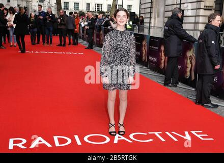 London, UK. 08th Mar, 2020. Ariella Glaser attends the Premiere of Radioactive held at the Curzon Mayfair in London. Credit: SOPA Images Limited/Alamy Live News