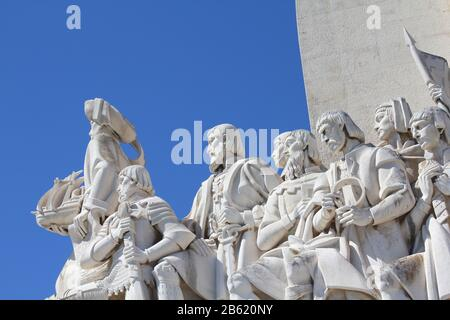 LISBON, PORTUGAL, 9 SEPTEMBER 2013: Padrao dos Descobrimentos - Monument to the Discoveries commemorates the Portuguese Age of Discovery in the 15th a - Stock Photo