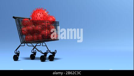 multiple viruses in a shopping cart - impact on the economy