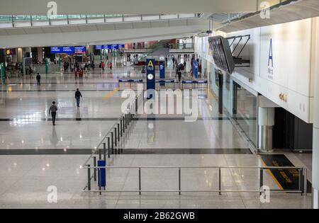 Hong Kong,China:06 Mar,2020. Hong Kong International Airport empty as Cover-19 takes its toll on the travel industry Jayne Russell/Alamy Stock Image