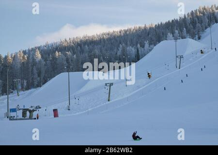 Levi ski resort in Kittilä, Lapland, Finland - Stock Photo