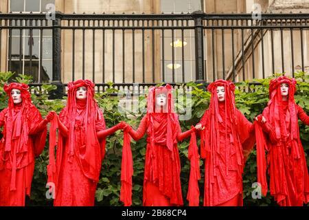 London, UK, 11 Jun 2019. Red Rebel Brigade, Extinction Rebellion - protest at Trafalgar Square. Credit: Waldemar Sikora