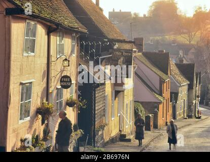 Kersey village. Suffolk. England. UK. Circa 1990's