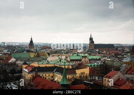 Krakow in winter. Poland. - Stock Photo
