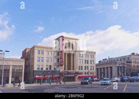 The Iconic Rialto Square Theater in Joliet, Illinois - Stock Photo