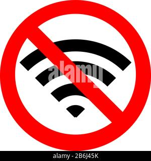 No wifi vector icon isolated on transparent background, No ...