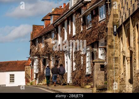 The Grade II listed eighteenth-century Church Hill House, next to the parish church - Stock Photo
