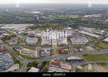 The CentrO is one of the largest shopping centers and urban entertainment center in Germany, 10.10.2012, aerial view, Germany, North Rhine-Westphalia, Ruhr Area, Oberhausen - Stock Photo
