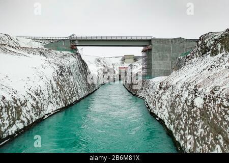 Sultartangavirkjun hydro power plant, Central Highlands, Iceland