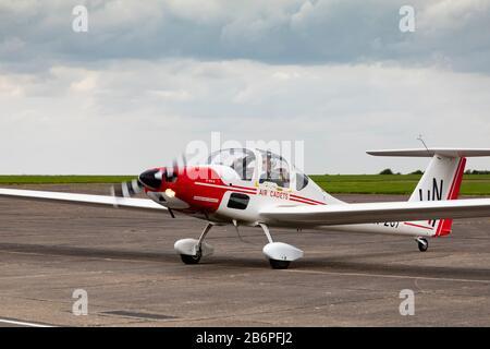 "Grob 109b ""Vigilant"" motor glider of the Royal Air Force Air Cadet organisation. - Stock Photo"