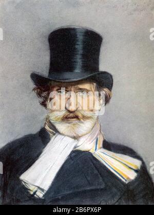 GIUSEPPE VERDI (1813-1901) Italian operatic composer about 1885 Stock Photo