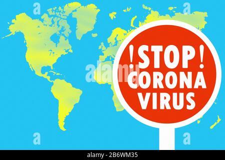 Warning sign Covid-19, Coronavirus map of Germany Stock ...