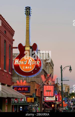 USA,Deep South,  Tennessee, Memphis, Beale Street
