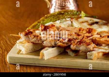 Food  kebab from turkish cuisine