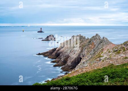 France, Brittany (Bretagne), Finistere department, Plogoff. Pointe du Raz. - Stock Photo