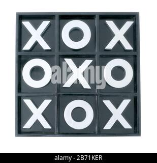 Full ceramic tic-tac-toe board  game - Stock Photo