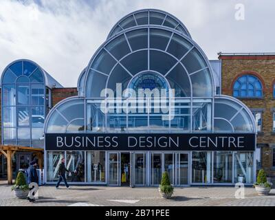 Business Design Centre Islington London. Originally the Royal Agricultural Hall, opened 1862 converted to the Business Design Centre in 1986. - Stock Photo