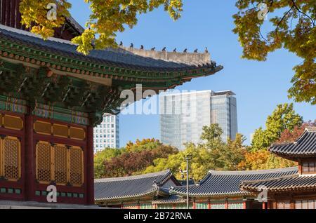 Deoksugung Palace, Seoul, South Korea - Stock Photo