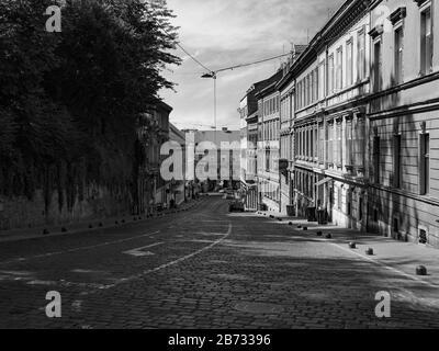 Steep Mesnicka street, zagreb - Stock Photo