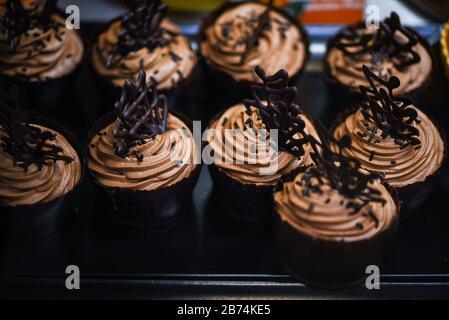delicious mix mini cakes close up - Stock Photo