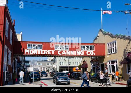 Cannery Row and sardine factories, Monterey, California, USA - Stock Photo