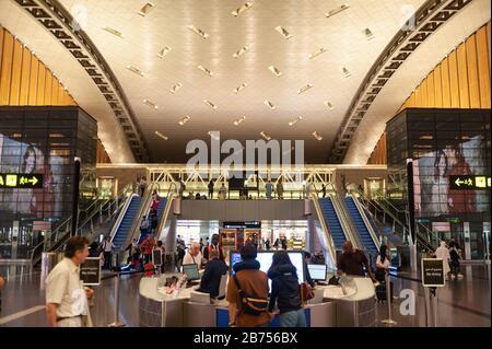 27.06.2019, Doha, Qatar - Interior view of the new Hamad International Airport. [automated translation]