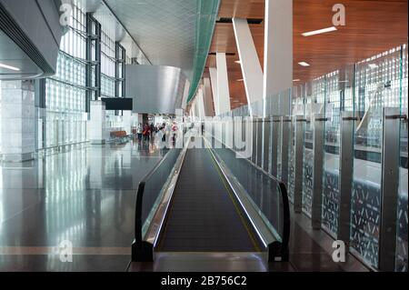 05.06.2019, Doha, Qatar - Interior view of the new Hamad International Airport. [automated translation]