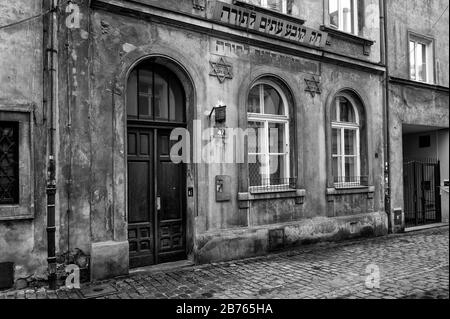 Poland, Cracow, 28.01.2015. Old sinagogue in Kazimierz quarter in Cracow on 28.01.2015. [automated translation]