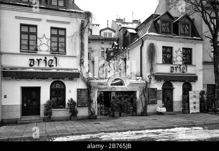 Poland, Krakow, 28.01.2015. Jewish restaurant in Kazimierz quarter in Krakow on 28.01.2015. [automated translation]