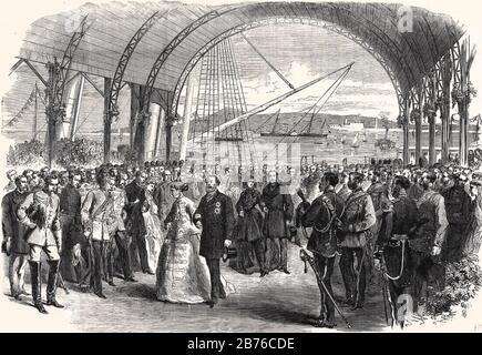 PRINCE OF WALES (the future Edward VII) AND PRINCESS OF WALES VISIT IRELAND IN 1885 - Stock Photo
