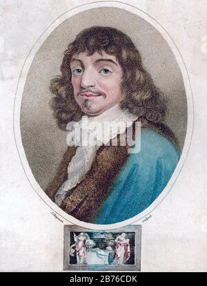RENE DESCARTES (1596-1650) French philosopher, mathematician and scientist - Stock Photo