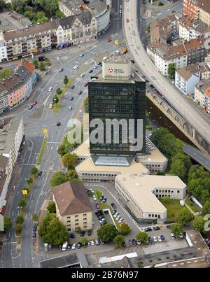 , employment office, Agentur fuer Arbeit, of Hagen, 19.07.2011, aerial view, Germany, North Rhine-Westphalia, Ruhr Area, Hagen - Stock Photo