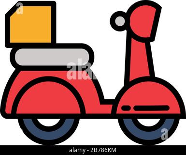 motorcycle service, order, shipping, fast and free transport vector illustration design - Stock Photo