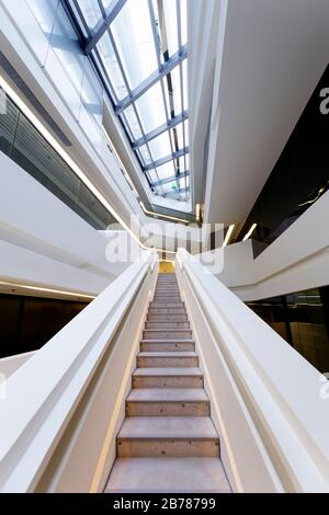 Jockey Club Innovation Tower, Hong Kong Polytechnic University, Hong Kong - Stock Photo