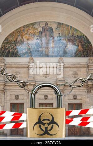Montage: Italy blocked due to corona virus
