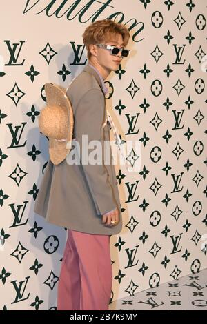Chinese singer and rapper Fan Chengcheng attends Louis Vuitton promotional event in Shanghai, China, 10 January 2020. - Stock Photo