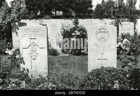 British war cemetery in Bayeux, France. - Stock Photo
