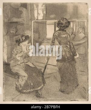 Mary Cassatt at the Louvre: The Etruscan Gallery, 1879-80. - Stock Photo