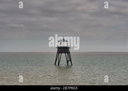 Dovercourt Lighthouse, Essex - Stock Photo