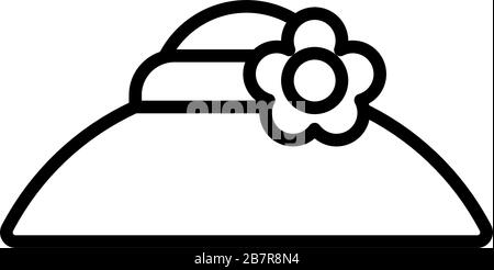 gardening hat , line style icon vector illustration design - Stock Photo
