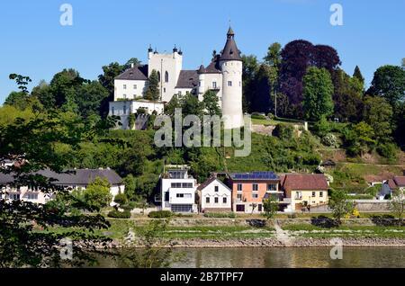 Austria, castle Ottensheim on Danube river in Upper Austria