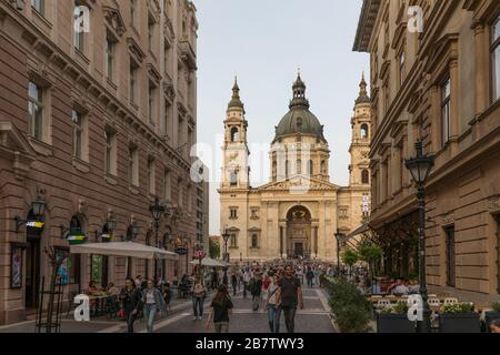 Budapest, Hungary - 26 April 2019: Budapest cathedral - Basilica St Stephen - Stock Photo