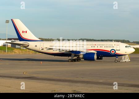 Government of Canada Airbus A310 used for official transportation including the Canadian Prime Minister. Aircraft also referred as CC-150 Polaris VIP. - Stock Photo
