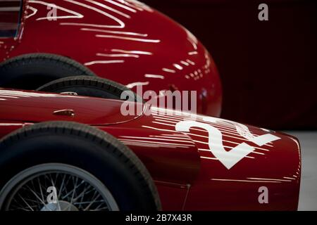 Classic red racing car no 22